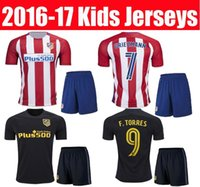 best youth football - 2016 kids Atletico Madrid soccer jerseys Best quality GRIEZMANN F TORRES JACKSON M GODIN KOKE GABI chilld youth football shirts