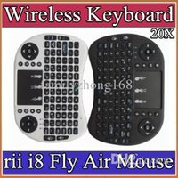 android media remote - 10X Wireless Keyboard rii i8 keyboards Fly Air Mouse Multi Media Remote Control Touchpad Handheld for TV BOX Android Mini PC B FS