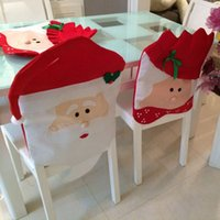 Wholesale Christmas Kitchen Chair Covers PARTY Mr Mrs Santa Claus Christmas Kitchen Chair Covers Cute Design Unique for Holiday Party