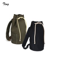 army duffle bags - high quality gym sack canvas rucksack youth drawstring single shoulder backpack men designer rugzak baseball duffle bag