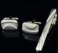 Wholesale New Hot Plating Lavalier Tie Clip Cufflinks Suit Business Men Cufflinks Tie Clip Gift Fei