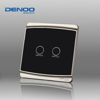 Wholesale Smart touch panel touch switch wall switch two billing livolo control sensor switch Gents Black