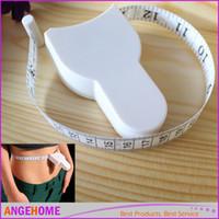 Wholesale 60 cm Fitness Accurate Body Fat Caliper Measuring Body Tape Ruler Measure Tape Measure Body Fat Caliper Measure Retracta