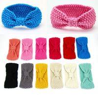 Wholesale 2016 Autumn Winter New Girl Headbands Knitted Cotton Bohemia Turban Fashion Headwear Baby Accessories T MZ205