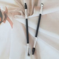 Wholesale Brushes12 Eyebrow Brushes Duo Spiral Eye Brow Brush Makeup Eyebrow Pencil Eyebrow Comb DHL
