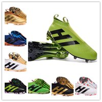 Wholesale With Box New High ACE Purecontrol Football Boots Men FG ACE Soccer Cleats Pure Control Soccer Shoes Grass Green Black