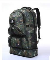 Wholesale 60L Outdoor Military Sports Hiking Backpack Camping Bag Rucksacks travelling backpack Computer Bag