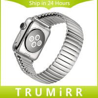 Precio de Bandas de acero inoxidable enlaces-22mm 24mm acero inoxidable Banda de reloj para iWatch Apple Seguir 38mm 42mm Banda elástica correa de pulsera con Link Adaptador de plata
