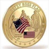 betsy ross flag - 40mm Gold Glory USA Collectors Coin oz Betsy Ross Flag America Coin Capsule packed each DHL