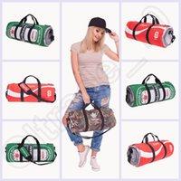 Wholesale 300PCS LJJH1318 D Printing leaf emoji Fitness bag Space Galaxy Duffle Sport Tote Yoga Fitness Travel Gym Bag Handbag Women Men