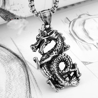 Wholesale Men Titanium Steel Pendant Dragon Vintage Punk Pendants L Stainless Steel Fit Necklaces Chain For Man Fashion Jewelry