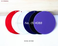 Wholesale colors mm Blank Acrylic Circle Pendants Discs Key Chain Assort Colors Red Purple Blue Clear White Black quot AC1045