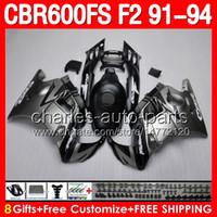 Wholesale Matte silver gifts For HONDA CBR600F2 CBR600FS CBR600 F2 CBR F2 F2 Fairings Flat silver black