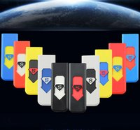 arc cars - Car USB Port Electronic Rechargeable Wind Proof Arc Cigarette Lighter Flameless Cigar Lighters Superman Smoking lighters No Gas smokeless