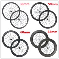 Wholesale 700C Carbon wheel mm mm mm mm Clincher Tubular Road Bike Carbon Wheels mm Width Bicycle Carbon Wheelset