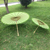 adult paper crafts - New green color paper parasol Children and adults wedding parasols Chinese craft umbrellas Diameter inches and inches Drop shipping