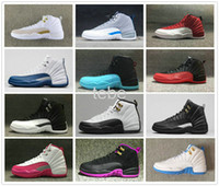 Wholesale 2016 Airlis Hot Sale Basketball Shoes OVO Gym Red Grey Blue Black Purple Sneakers Women Men Top Quality Sports Retro XII Replicas