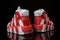 Wholesale With Box Hot Sale Fashion Air More Uptempo Varsity Red Basketball Shoes Running Sneakers Outdoor Shoes Size