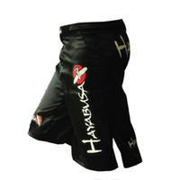Wholesale Mens MMA Boxing Shorts Muay Thai Fight Trunks Cheap MMA Kickboxing Shorts Sanda Fight Pants M XL Black White