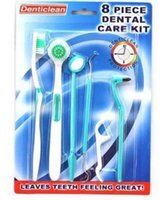 Cheap dental care kit Oral care and cleaning tools 8pcs set of tooth sets of dental care sets of 8 50 set dhl free