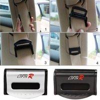 Wholesale 1 Pair Car Seat Belts Clip Safety Adjustable Stopper Buckle Plastic Clips Black Silver EA10343