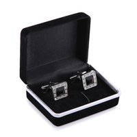 best jewelry box for earrings - 100pcs Promotion Black Velvet Cufflink Box Best gift box for Cufflinks DHL Fedex