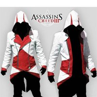 Wholesale 2016 New Hot Assassins Creed Cosplay Overcoat Colors Fashion Assassin s Creed Cool Men Tops Slim Connor Jacket