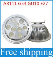 aluminum garden lighting - High Power AR111 LED Spotlight W W W W G53 Aluminum Alloy Led Bulbs AC85 V Replace Halogen for Business Lighting