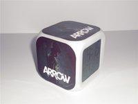 arrow digital - New Green Arrow Creative Led Alarm Clock Desk Clock Digital Alarm Clock with Snooze Calendar Thermometer Kids Toy