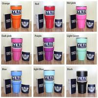Wholesale YETI Rambler Tumbler Cup Purple Pink Blue Light Blue Orange Light Green Red Black Tumbler Mug IN STOCK