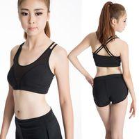 Wholesale 2016 new women Professional sports bra wireless shockproof running vest design young girl bra push up tank fitness running yoga bra