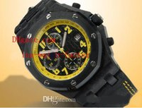 bee stone - Factory Supplier AAA Top Quality Wristwatch Royal Oak Offshore Bumble Bee Yellow Dial Quartz Stopwatch Chronograph Mens Watch Men s Watches