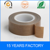 Wholesale Die cutting customized PTFE Coated Fiberglass Fabric With Silicone Adhesive Tape mmx10M