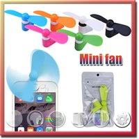 Wholesale USB Micro Mini Fan V8 Fan For Android Mobile Phone Samsung Iphone Portable Summer Outside Electronic Cooling Wind With OPP Package