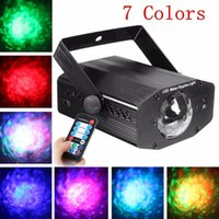 Wholesale Remote RGB W LED Water Wave Ripple Effect Stage Light lighting Laser Projector with Mini Tripod for Party Show