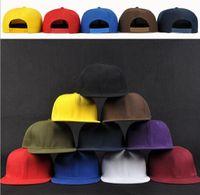 best bboy - Retail the best quality hiphop blank flat snapback hats women and men street bboy plain baseball caps