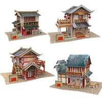 Wholesale Cubic Fun D Paper Jigsaw Puzzle Model World Flavor Series Country Set Four Scene for Kids