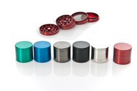 Wholesale 1pc MM CNC Parts Smoking Herb Grinder Zinc Alloy Metal Tobacco Colors Spice Pollen Mini Hand Muller Crusher Cheap Grinder