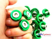 Wholesale 10piece set Green M6x20MM Aluminum Fender Bumper Washers with Bolts DRESS UP for honda