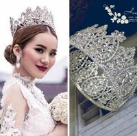 Wholesale Western Style Silver Dimand Crystals Princess Queen Jewelry Wedding Party Hair Accessories Headwear Bridal Tiaras And Crowns