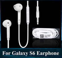 Wholesale For Samsung Galaxy S6 Headphone Earphone In Ear Mic Remote Stereo Volume Control for S5 S4 With NO Package