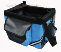 Wholesale New arrival Bicycle Bags Pet Dog Carrier Durable Pet Bag Folding Carrier Cage Dog Bag Tote Bag for dogs cats pets