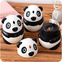 Wholesale vanzlife creative Panda automatic toothpick box type fashion toothpick holder lovely table toothpick jar