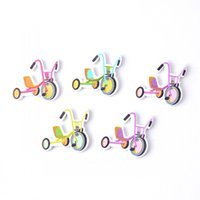 bicycle transportation - Hot New Random Mixed Holes Transportation Bicycle Wood Sewing Buttons Scrapbooking x28mm J2299