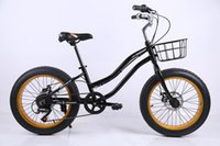 aluminum beach bikes - 20 inch speed Lady bike Snowmobile Beach Super wide tires Children s stroller High strength aluminum alloy frame Double disc brake