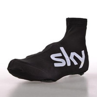 bicycle touring shoes - Pro Team Sky Tour De France Cycling Shoes Cover Outdoor Mountain Cycling Foot Wear Thermal Fleece Bicycle Casco Ciclismo Cycling Overshoes S