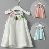 baby nation - Nation Style Kids Girls Ruffle Tassel Dresses Baby Girl Summer Cotton Dress Babies Fashion Dress Children s Clothing BH2216