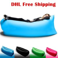 Wholesale Inflatable air sleeping bag hangout Air Sleep Hiking Camping Bag Bags Bed Beach Sofa Lounge Only Ten Seconds inflate DHL