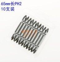 Wholesale 10PCS S2 Alloy Steel Hexagonal Shank mm mm Length PH2 Set Electric Screwdriver Screw Driver Magnetic Screwdriver Head Bits