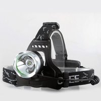 Wholesale 1800 Lumen CREE XM L T6 LED Rechargeable Headlamp Headlight Head light Lamp with V battery Charger